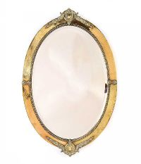 OVAL BRASS FRAMED MIRROR at Ross's Auctions