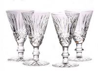 SET OF FOUR WATERFORD SHERRY GLASSES at Ross's Auctions