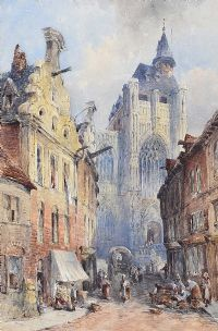 STREET SCENE, ROUEN by William Bingham McGuinness RHA at Ross's Auctions