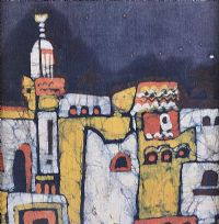 OLD VILLAGE by Mary Stenon at Ross's Auctions