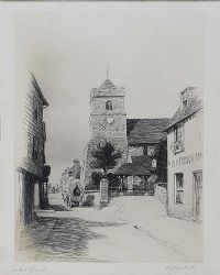 STANFORD CHURCH by Anthony Hall at Ross's Auctions