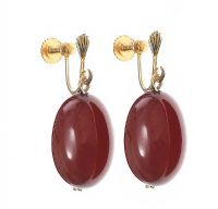 GOLD-TONE AMBER EARRINGS at Ross's Jewellery Auctions