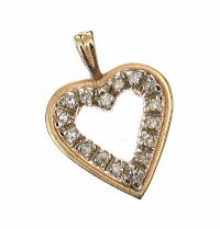 14CT GOLD AND DIAMOND PENDANT at Ross's Jewellery Auctions