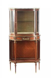 LATE 19TH CENTURY BOW FRONT DISPLAY CABINET at Ross's Auctions
