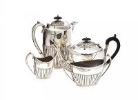 FOUR PIECE SILVER TEA SET at Ross's Auctions