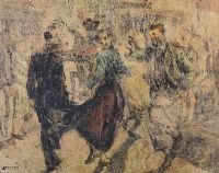 AN IRISH JIG by William Conor RHA RUA at Ross's Auctions