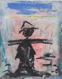 THE CHIMNEY SWEEP by Basil Blackshaw HRHA HRUA at Ross's Auctions