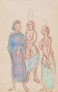 THREE FIGURES by Daniel O'Neill at Ross's Auctions