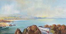 A DISTANT SHOWER, PORTSTEWART by Robert T.  Cochrane at Ross's Auctions