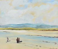 MUSSEL GATHERING, COUNTY DONEGAL by Alan Beers at Ross's Auctions
