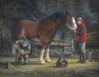 THE BLACKSMITH by David Long UWS at Ross's Auctions