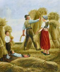 HARVEST TIME by W. Cowper at Ross's Auctions