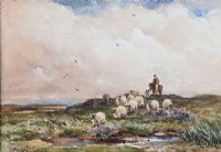 DRIVING SHEEP by Wycliffe Egginton RI RCA at Ross's Auctions