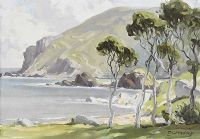 TREES ON THE ANTRIM COAST by Frank McKelvey RHA RUA at Ross's Auctions
