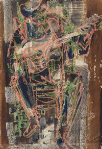 THE SPANISH GUITAR PLAYER by George Campbell RHA RUA at Ross's Auctions