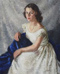 PORTRAIT OF A SEATED LADY by Lydia de Burgh RUA UWS at Ross's Auctions