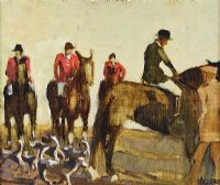 EAST DOWN FOX HOUNDS by Cecil Maguire RUA at Ross's Auctions