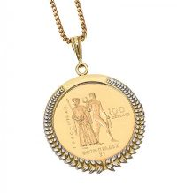 22CT GOLD COIN ON AN 18CT GOLD MOUNT AND CHAIN at Ross's Jewellery Auctions