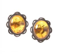 SILVER AND AMBER EARRINGS at Ross's Jewellery Auctions