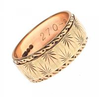 9CT GOLD ENGRAVED RING at Ross's Jewellery Auctions