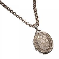 STERLING SILVER LOCKET AND CHAIN at Ross's Jewellery Auctions