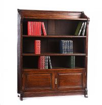 VICTORIAN OAK OPEN BOOKCASE at Ross's Auctions