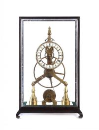 BRASS SKELETON CLOCK at Ross's Auctions