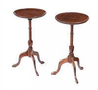 PAIR OF EDWARDIAN MAHOGANY WINE TABLES at Ross's Auctions