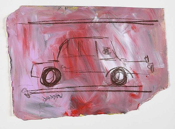 RED CAR by Basil Blackshaw HRHA HRUA at Ross's Online Art Auctions