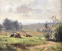 MORNING NEAR KILLYLEAGH, COUNTY DOWN by Frank McKelvey RHA RUA at Ross's Auctions