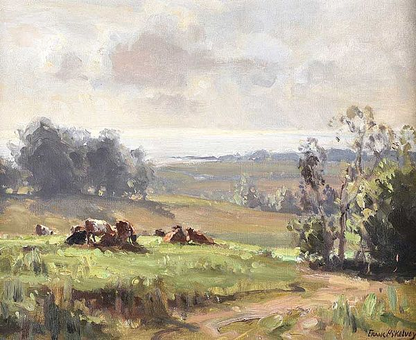 MORNING NEAR KILLYLEAGH, COUNTY DOWN by Frank McKelvey RHA RUA at Ross's Online Art Auctions