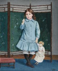 MY MOTHER AGED FIVE by Lydia de Burgh RUA UWS at Ross's Auctions