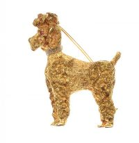 18CT GOLD POODLE BROOCH at Ross's Jewellery Auctions