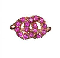 9CT ROSE GOLD RING SET WITH RUBY at Ross's Jewellery Auctions