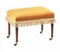 GEORGIAN UPHOLSTERED STOOL at Ross's Auctions