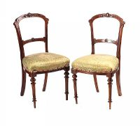 PAIR OF VICTORIAN OCCASIONAL CHAIRS at Ross's Auctions