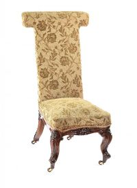 VICTORIAN UPHOLSTERED PRAYER CHAIR at Ross's Auctions