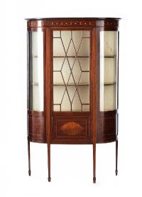EDWARDIAN DISPLAY CABINET at Ross's Auctions