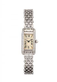 18CT WHITE GOLD AND DIAMOND CARTIER WATCH at Ross's Auctions