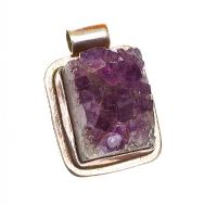 STERLING SILVER AMETHYST PENDANT at Ross's Jewellery Auctions