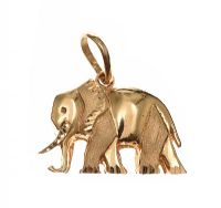 18CT GOLD ELEPHANT PENDANT at Ross's Jewellery Auctions