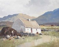 GALWAY COTTAGE by Maurice Canning  Wilks ARHA RUA at Ross's Auctions