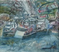 THE HARBOUR, PORTBALLINTRAE, COUNTY ANTRIM by Nano Reid RHA at Ross's Auctions