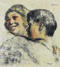 DANCING COUPLE by William Conor RHA RUA at Ross's Auctions