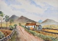 IRISH THATCHED COTTAGE by A. McCallum at Ross's Auctions