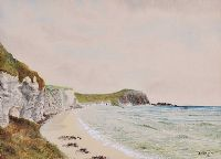 COUNTY ANTRIM COAST by A. McCallum at Ross's Auctions