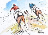 ON THE LAST TURN by Alan Beers at Ross's Auctions