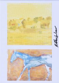 WALKING HORSE & LANDSCAPE by Basil Blackshaw HRHA HRUA at Ross's Auctions