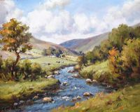 RIVER IN THE GLENS by Charles McAuley at Ross's Auctions
