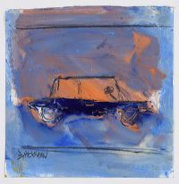 BLUE CAR by Basil Blackshaw HRHA HRUA at Ross's Auctions